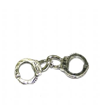6 x Antique silver handcuff  set Charm 29.4x12mm - S.F03 - WC240 - 2807049